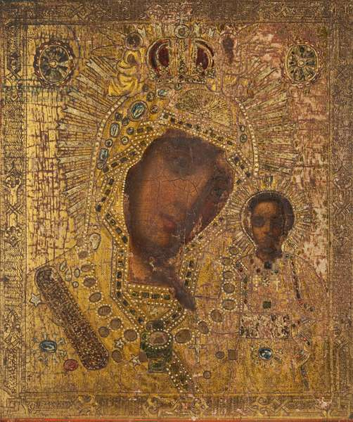 Kazanskaya Mother of God (tempera on panel)