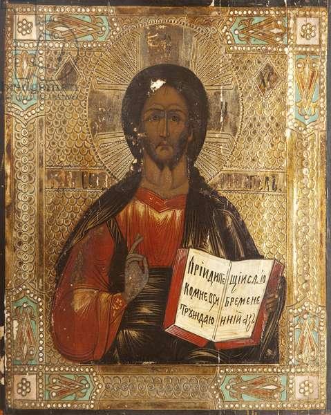 Christ Vsederzhitel (tempera on panel)