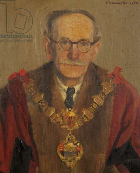 Councillor Fred Taylor, Mayor of Darwen (1949-1950), 1950 (oil on canvas)