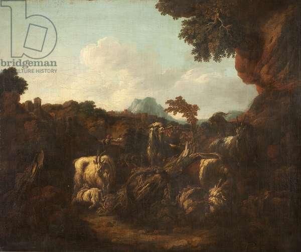 Pastoral Landscape (oil on canvas)