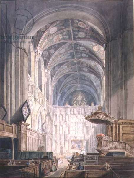 St. Albans Cathedral, 1796 (w/c on paper)