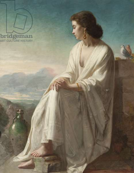 Rebecca at the Well (oil on canvas)