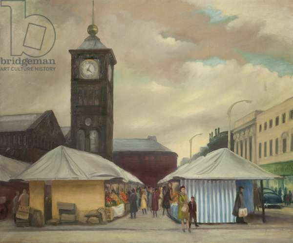Blackburn Market, c.1963 (oil on canvas)