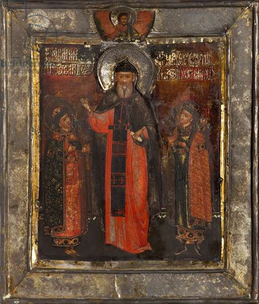 Saint Feodor (tempera on panel)