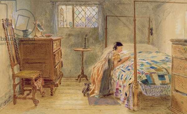 Girl at Prayer (w/c on paper)