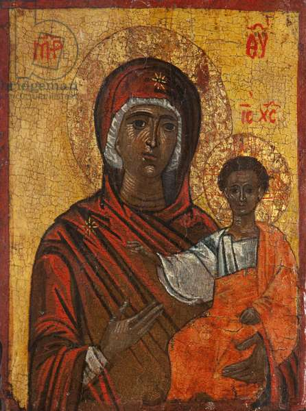 Virgin Hodegetria (tempera & gesso on panel)