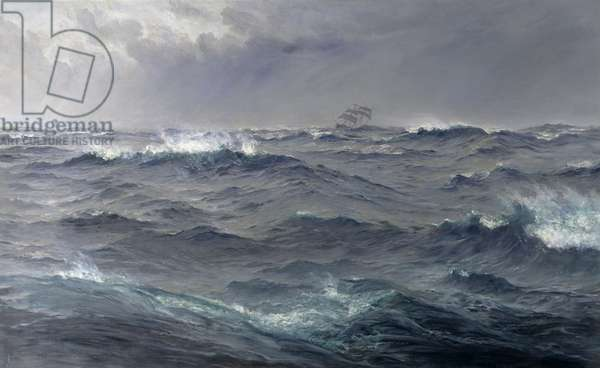 Rough Weather in the Mediterranean (oil on canvas)