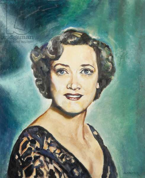 Kathleen Ferrier, c.1940 (oil on canvas)