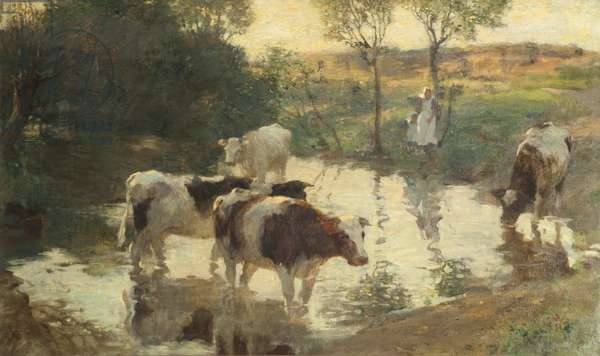 The Watering Place, Evening, 1898 (oil on canvas)