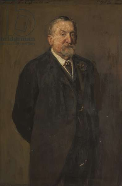 Joshua Hacking, President of the Blackburn Chamber of Commerce, 1913 (oil on canvas)