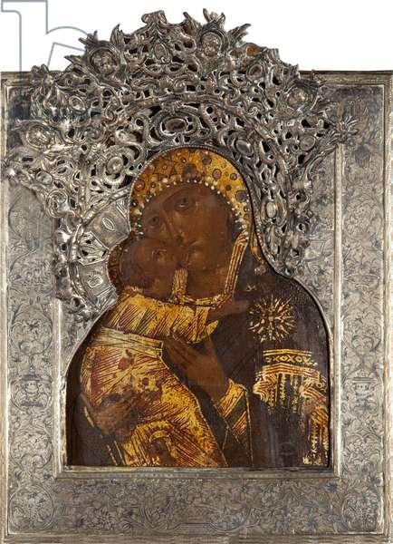 The Vladimir Mother of God (tempera on panel)