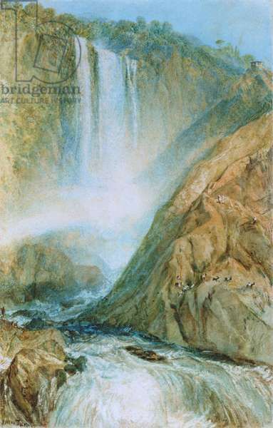 The Falls of Terni, 1817 (w/c on paper)