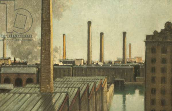 Seven Chimneys, early 20th century (oil on canvas)