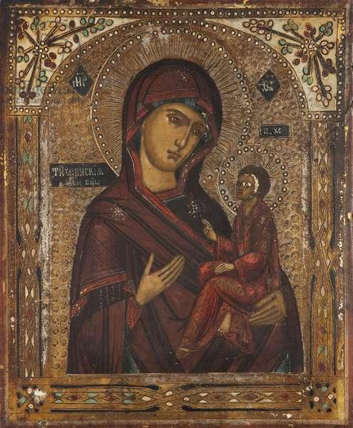 Tikhvin Mother of God (tempera on panel)