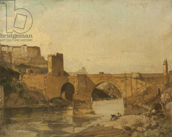 Bridge at Toledo, Spain (oil on canvas)