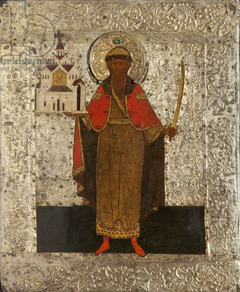 Saint Vsevolod, Grand Prince and Wonder Worker, c.1575 (tempera on panel)