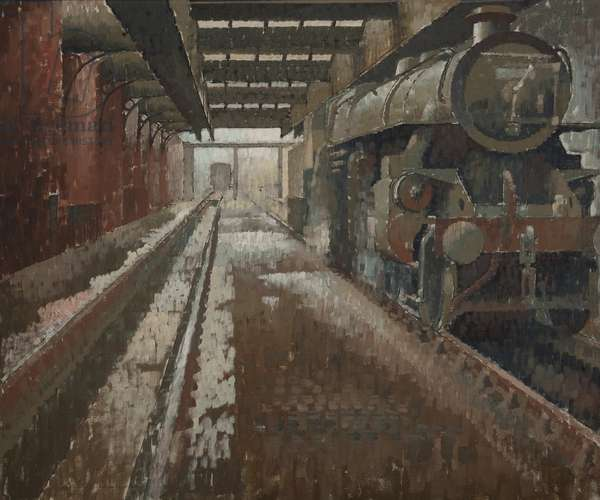 Engine Shed, c.1966 (oil on canvas)