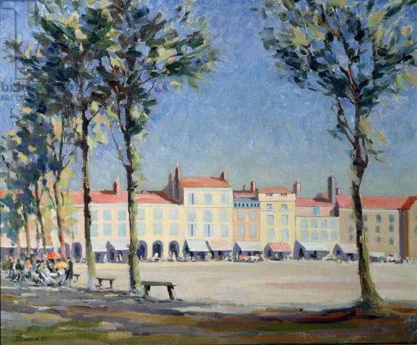 Place Verdun, La Rochelle, 1929 (oil on canvas)