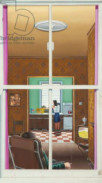 Look through Any Window, 1976 (oil on perspex)