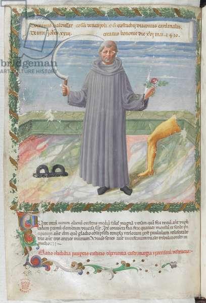 Miniature of Pope John XXII (the caption, identifying the figure as Pope John XXIII, is erroneous)
