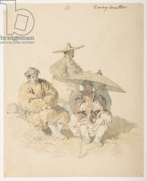 Studies of Chinese, 1792-94 (w/c on paper)