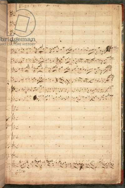 R.M.20.h.5 f18 Original Score for the Coronation Anthem for George II and Queen Caroline, 1727 (see also 34784)
