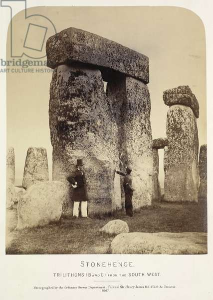 Stonehenge, from Plans and Photographs of Stonehenge, and of Turusachan in the Island of Lewis; with notes relating to the Druids, etc... , 1867 (b/w photo)
