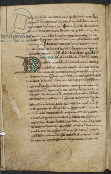 Royal 13. A.XI, f.59vInitial D.De temporum ratione.Bede the VenerableMiscellany of works on computus and astronomy.11th century-12th century