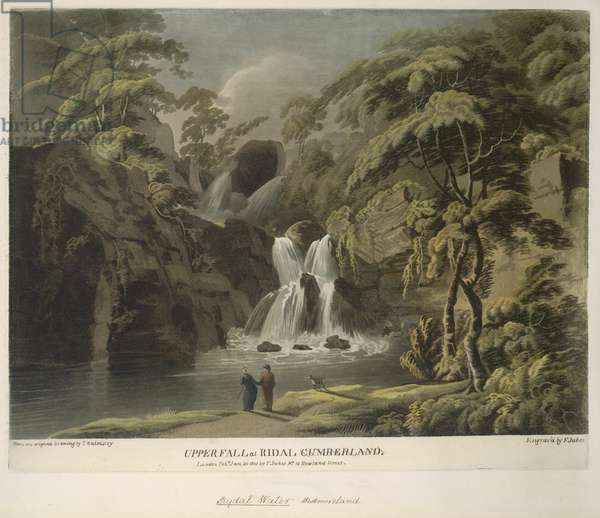 Upper Fall at Ridal, Cumberland, engraved by F. Jukes, 1801 (coloured engraving)