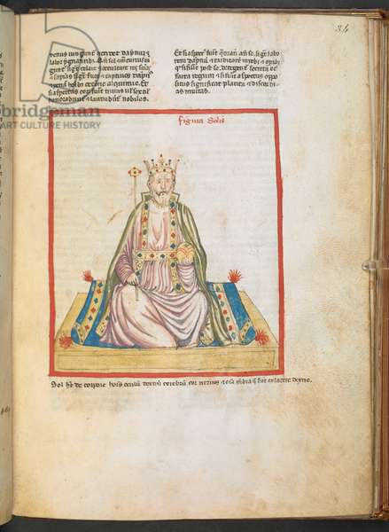 f. 34.  A King. Introductorius ad Judicia Astrologiae. 14th century