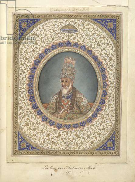 Portrait of Bahadur Shah, the last Mughal Emperor of India