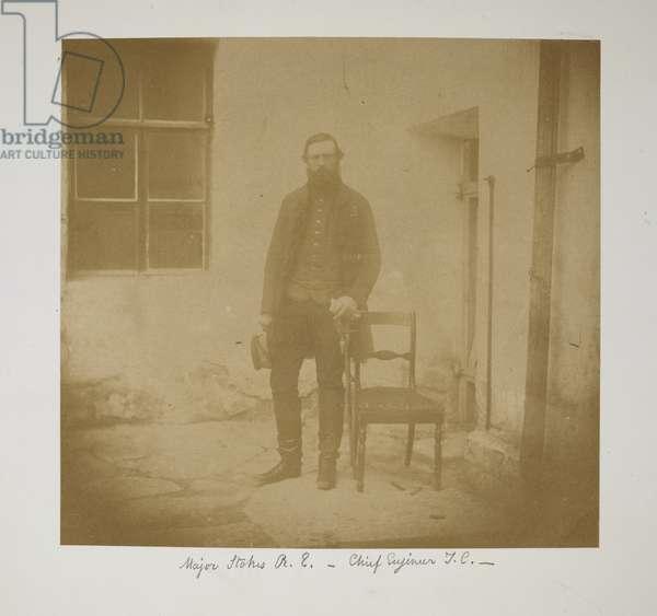 Major Stokes, RE. Chief Engineer, TC (Turkish Contingent) c.1855-56 (b/w photo)