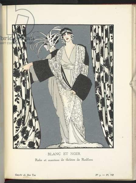 """""""Blanc et Noir - Robe et manteau de théâtre de Redfern."""""""