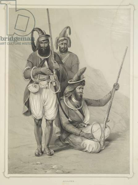 Akalees, from 'Portraits of the Princes and People of India', by Emily Eden, 1844 (litho)