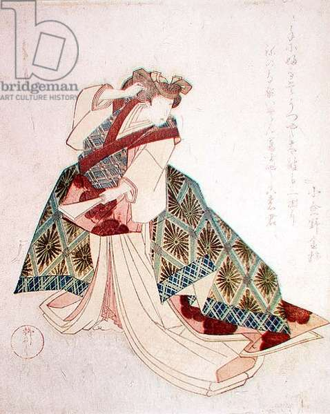 Suzuki or Yanagawa Shigenobu (1784-1832), (a surimono print - commissioned for special occasions, more elaborate and delicately printed than those commercially)