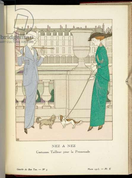 """""""Nez a Nez"""", 1912 (print)"""