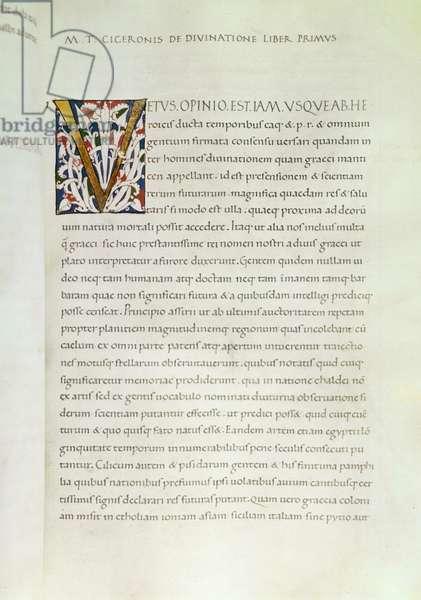 De Divinatione (parchment)