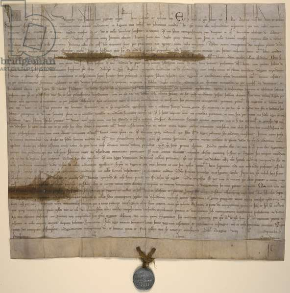 A papal bull of Innocent III, annulling 'Magna Carta', Anagni, 24th August 1215