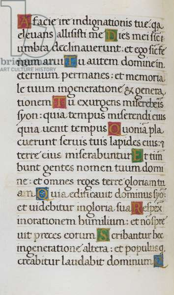 Text page; Psalm 101