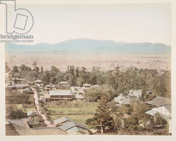 Kioto, from A Book of Coloured Photographs of views in Japan, 1895 (coloured photo)
