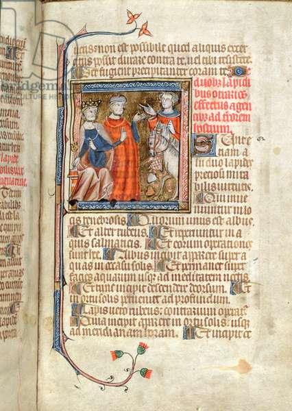 Ms Add 47680 fol.48 Two stones of marvellous virtue, Secretum Secretorum, c.1327 (vellum)