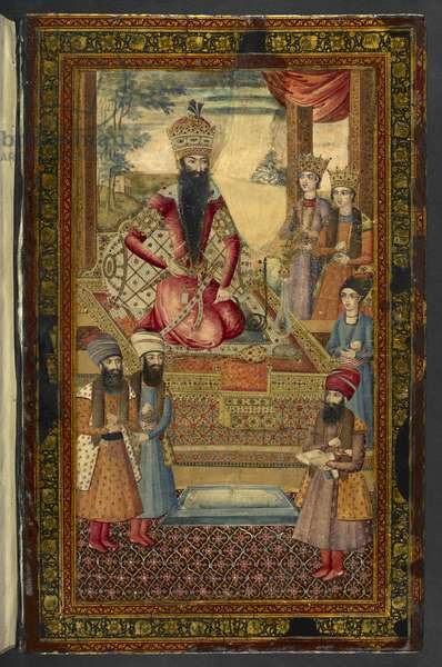IO Islamic 3558 Portrait of Fath-Ali Shah Qajar, 'Dīvān-i Khāqān', by Fatḥ ʻAlī Shāh Qājār (paint on lacquer)
