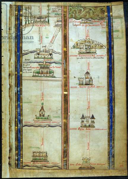 Part of the Itinerary from London to Jerusalem