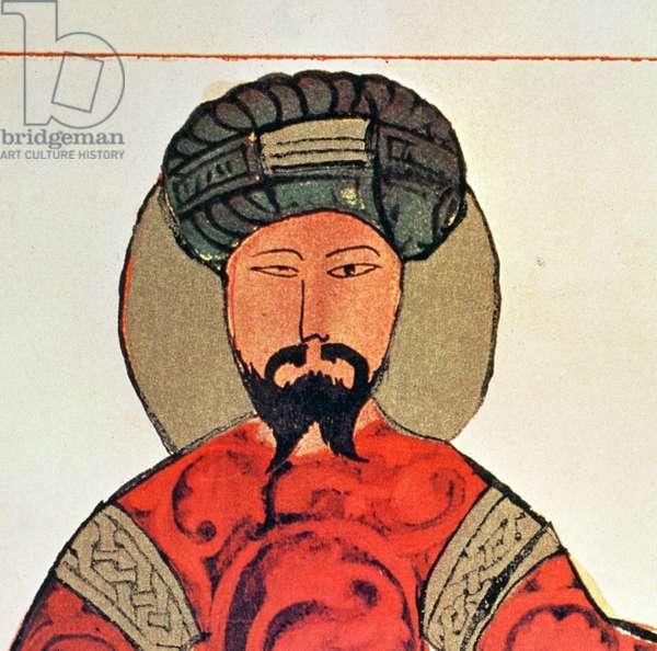 Portrait of Saladin (1138-93) (colour litho) (detail of 4623)