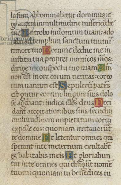 Text page; Psalm 5