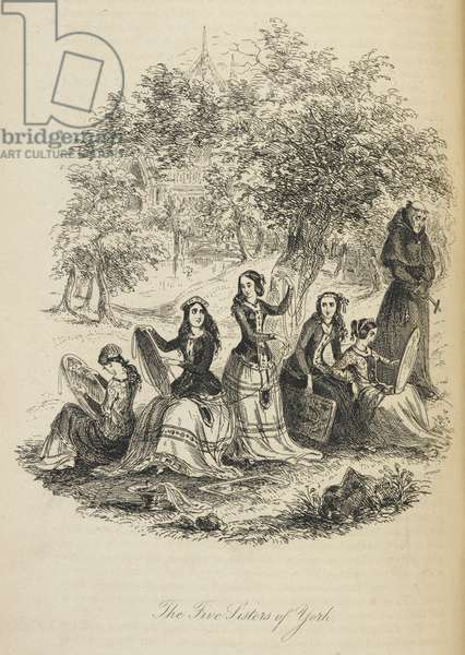 Illustration with the title 'the five sisters of York'.