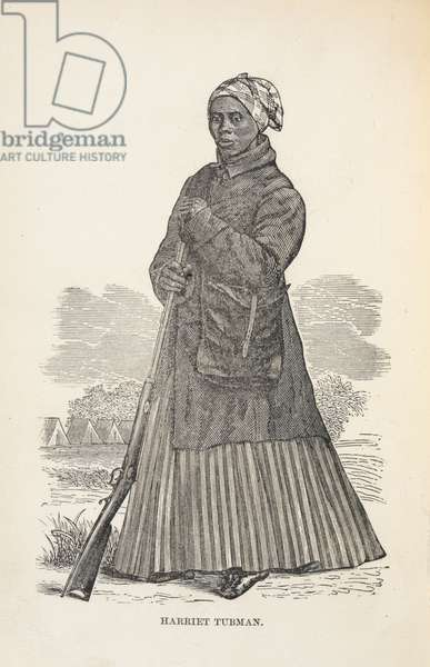 Harriet Tubman. Portrait. African-American abolitionist and Union spy during the American Civil War. She also campaigned for women's suffrage.