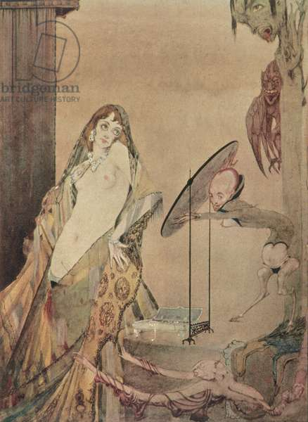 """""""Drest thus, I seem a different creature"""", illustration from 'Faust' by Goethe"""