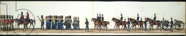 The funeral procession. The Royal Artillery. Band of the Royal Artillery. The Royal Artillery- guns