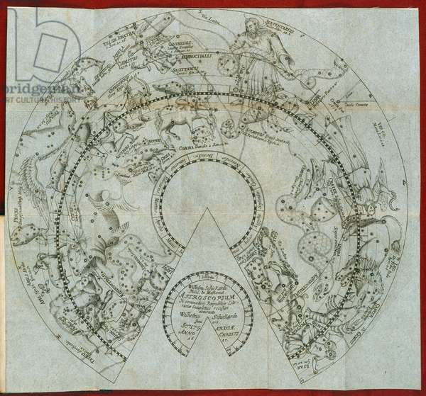 Circular astrological chart showing the signs of the Zodiac
